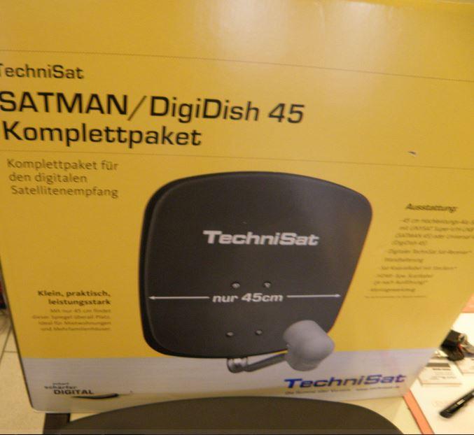 Red Technisat Digidish 45 Satellite Dish 45cm with Mounting and Single LNB